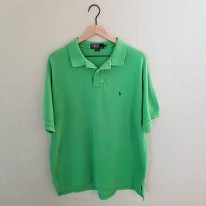 Polo by Ralph Lauren Men's Green Short Sleeve Polo